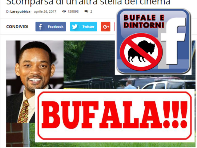"BUFALA  – Trovato morto in casa ""Will Smith"""