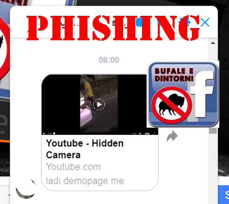 Phishing – Video Youtube su Messenger.